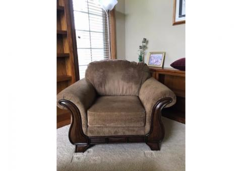 Arm chair and Ottoman