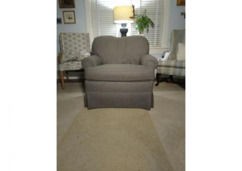Comfy, Cozy Neutral Gray Chair
