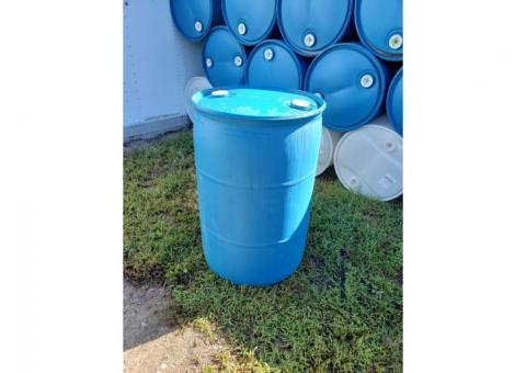 55 Gallon Blue (plastic) Barrels