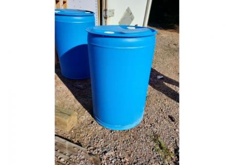 55 Gallon (plastic FOOD GRADE) Barrel