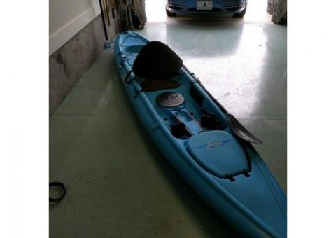Kayaks with accessories