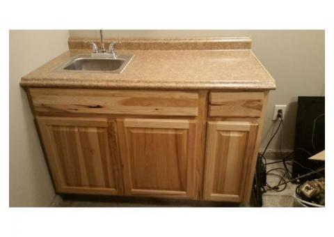 Finished cabinet with sink