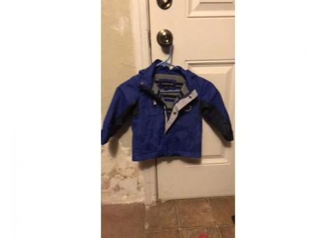 Fleece lined winter coat size 3T