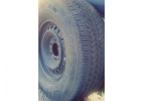 Grabber AW P265\70R16 all season tire on Rim